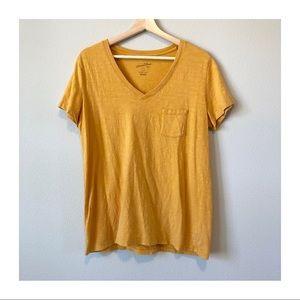 Universal Thread Tops - LIKE NEW | Universal Thread Yellow V-Neck T-Shirt